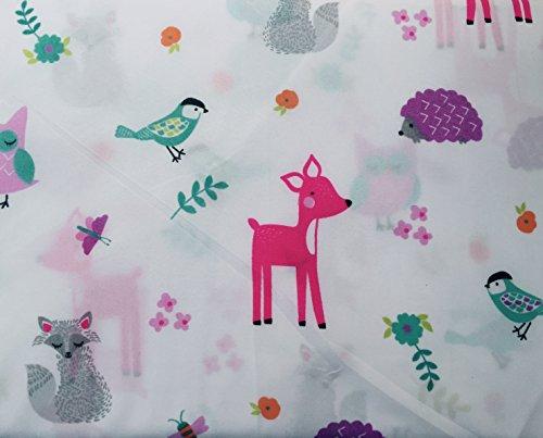MAX Studio Kids Pastel Criaturas del Bosque. Juego de sábanas, tamaño Completo