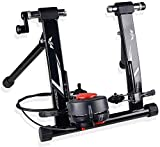 Bike Trainer Stand Magnetic Exercise Cycling Indoor Stationary Bicycle Trainer Stand for Indoor Riding Resistance Portable Road Bike Trainer Machine with Noise Reduction Wheel-Black Uptodate