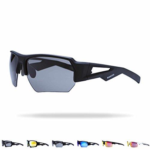 NAKED Optics Sportbrille (Halfframe Black/Lens Black)