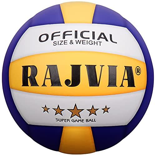 Rajvia Pelota de Voleibol, Balon de Voleibol, Pelota Voleibol Playa, Pelota Voley Tacto Suave Oficial Talla 5 para Interior y Exterior