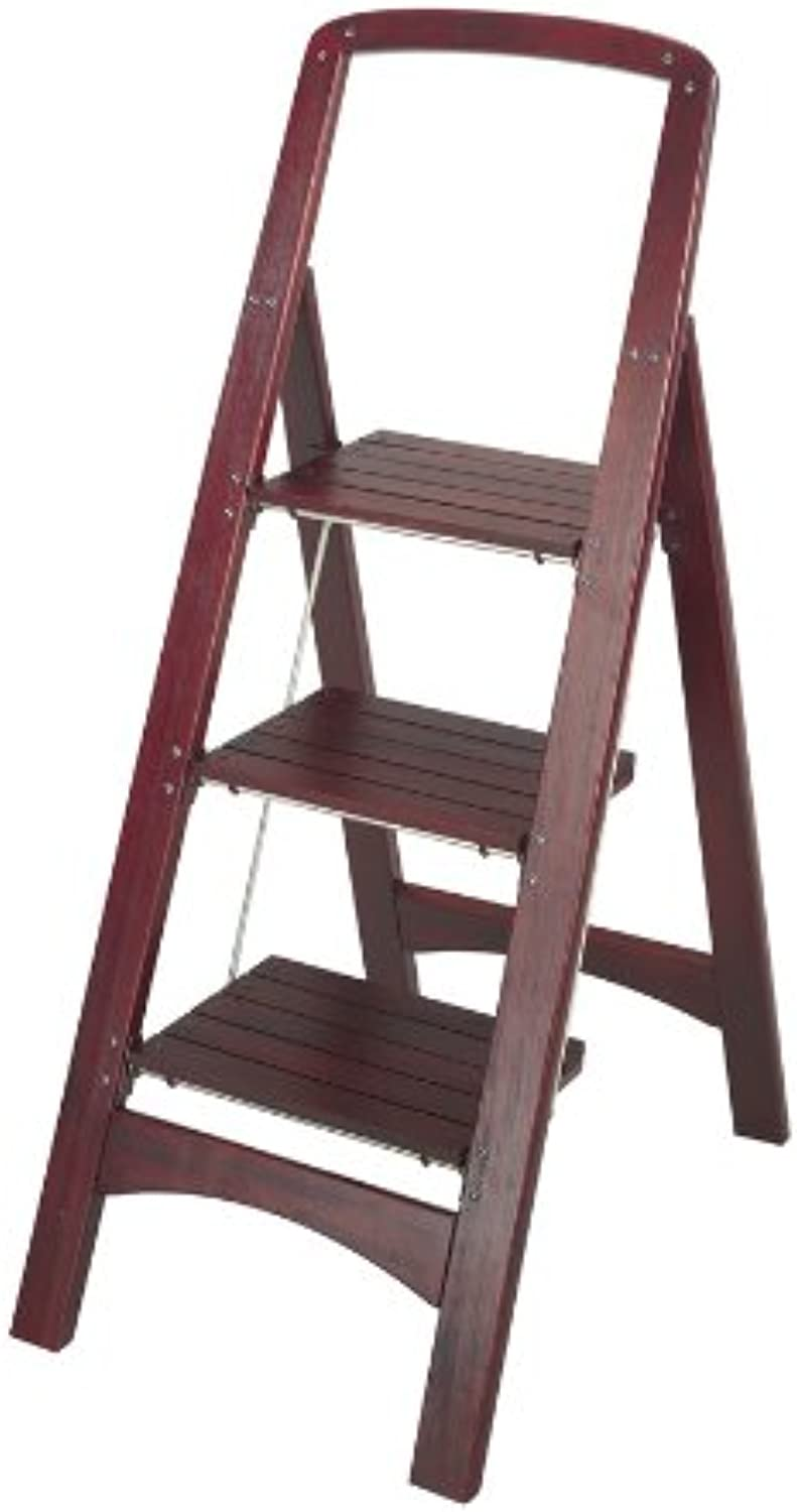 Adepta Medical 11255MGY1 Rockford Series Three Step Wood Step Stool - Mahogany