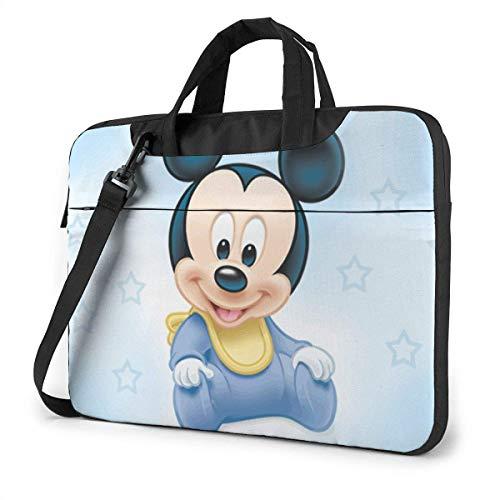 15,6 ″ Viaje de Negocios Bebé Mic-KE-y Mouse Sky Laptop Notebook PC Maletín Bandolera Bandolera Funda