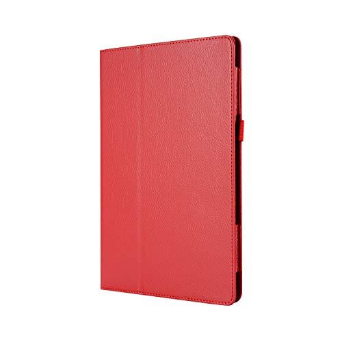 WindTeco Lenovo Tab3 8 / Tab 2 A8-50 Funda - Ultra Delgado y Ligero Carcasa Smart Case Cover con Función de Soporte para Lenovo Tab 3 8 (TB3-850F / TB3-850M) / Tab 2 A8-50 8,0 Pulgadas Tableta, Rojo