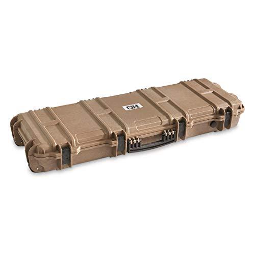 HQ ISSUE Tactical Rifle Case Hard with Foam, Gun Cases for Rifles TSA App, Flat Dark Earth