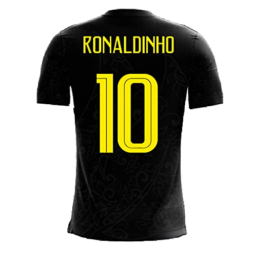 Airosportswear 2020-2021 Brazil Third Concept Football Soccer T-Shirt Maglia (Ronaldinho 10)