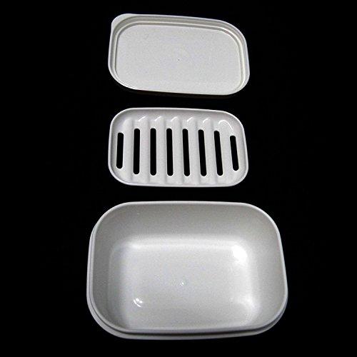 Naisicatar Boîte à Savon Rectangulaire Portable avec Couvercle Hermétique
