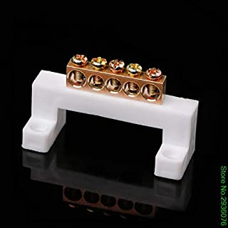 Paul My New 5 Positions Electric Cable Connector Screw Barrier Terminal Strip Block Bar Drop Shipping Support 100% New