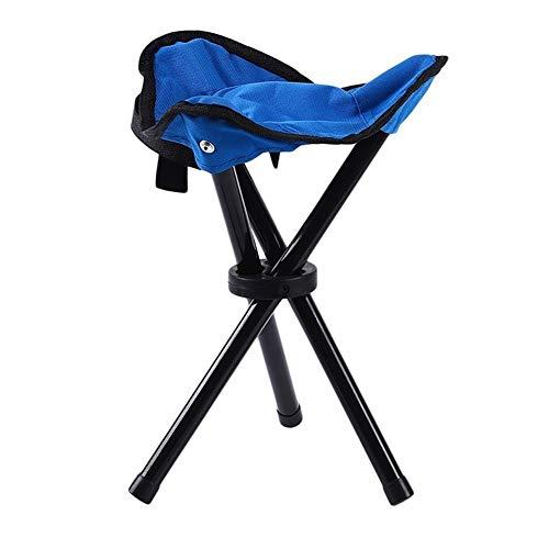 Chaises pêche Portable Outdoor Tabouret pliant Triangle de fonderie pêche Chaises pliantes Accessoires de pêche pratiques (Color : Blue)