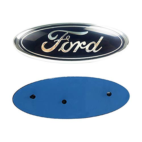 Compatible Ford Emblem Front Grille Emblem Ford F150 Tailgate Emblem 9 Inches X 3.5 Inches Decal Badge Nameplate Fits F150,F250,F350,Explorer,Edge,Ranger (Black)