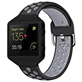 Acrbiutu Bands Compatible with Fitbit Blaze, Soft Silicone Breathable Replacement Sport Accessory Strap Wristband with Metal Frame for Fitbit Blaze Smart Fitness Watch Women Men