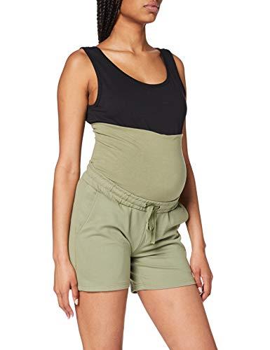 MAMALICIOUS Mama Licious Damen Umstandsshorts Einfarbige Jersey XLOil Green