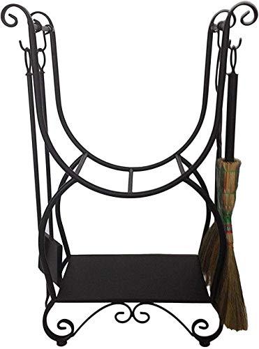 Fire Pit Bowl BBQ Garden Outdoor Portable Parrilla de barbacoa de acero inoxidable Rejilla de madera de carbón con 4 piezas de herramientas para colocar Juegos Casa de granja al aire libre Interior H