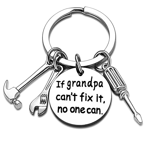 Grandpa Keychain Granddad Gifts From Grandson Granddaughter Christmas Gift Keyring Father