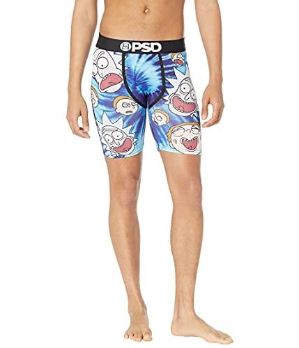 PSD Men's Brief Underwear Bottom (Blue/Tie Dye Heads, XL)