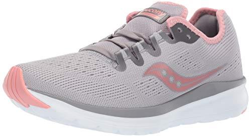 Saucony Women's Versafoam Flare Running Shoe, Grey/Pink, 9.5