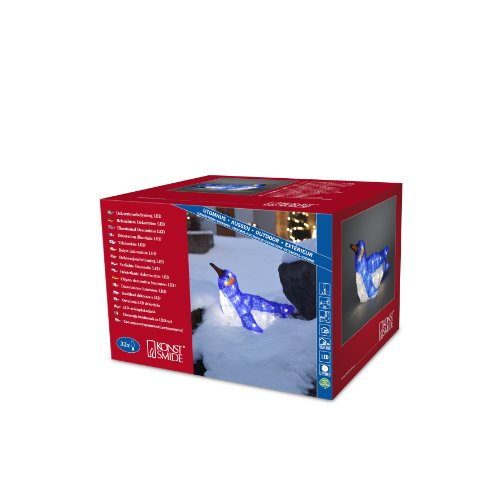 Konstsmide 6174-203 Pingouin Glissant Acrylique 32 LED Blanc + Câble Transparent