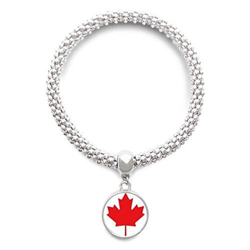 DIYthinker Damen Rot Maple Leaf Kanada Kultur Land Symbol Sliver Armband Laufende Anhänger Schmuck-Kette
