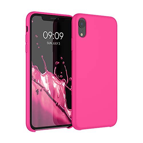 kwmobile Cover Compatibile con Apple iPhone XR - Cover Custodia in Silicone TPU - Back Case Protezione Cellulare Rosa Shocking