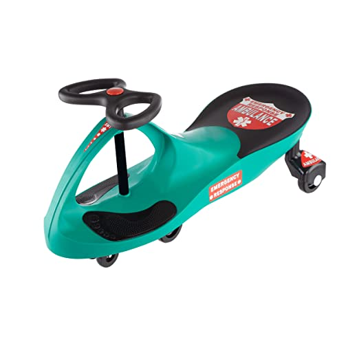 Ride on Toy, Ambulance Car Ride on Wiggle Car by Lil' Rider - Ride on Toys for Boys and Girls, 2 Year Old And Up
