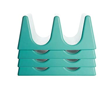 Taco Tender - Oven, Microwave, Dishwasher Safe Taco Holder (4, Teal)