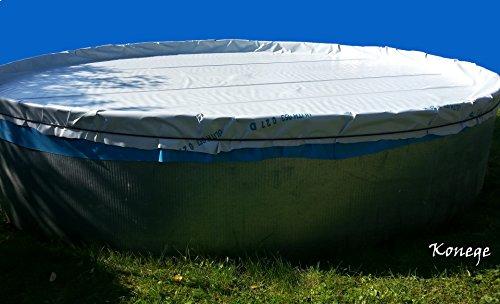 Poolplane, Poolfolie, Winterabdeckung für Pool bis max. Ø7,50m, inkl. Gummiseil