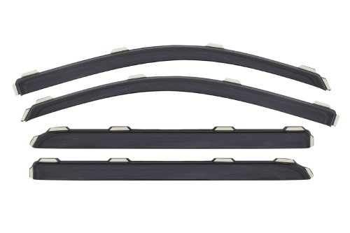 Price comparison product image Auto Ventshade 194536 In-Channel Ventvisor Window Deflector,  4 Piece for 2014-15 Chevy Silverado & GMC Sierra 1500 / 2500 / 3500 Crew Cab Pickups ONLY