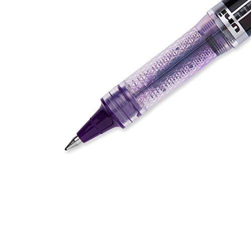 Uni-Ball Elite BLX Series Stick Rollerball Pens, Micro Point, Purple/Black Ink, 12 Count Photo #4