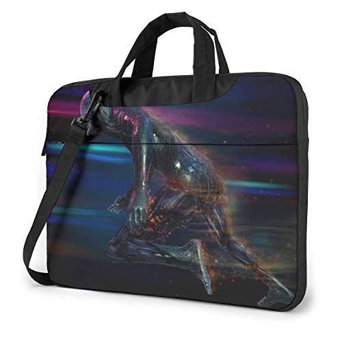 Laptop Shoulder Bag Carrying Laptop Case 15.6 Inch, 3D Art Picture Computer Sleeve Cover with Handle