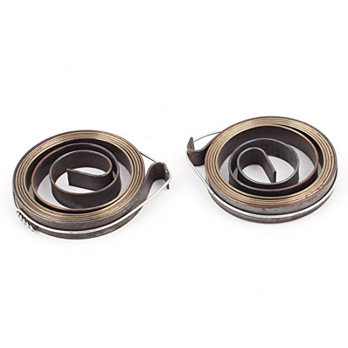 sourcing map 36 x 6mm Drill Press Quill Feed Return Coil Spring Bronze Tone 2 Pcs