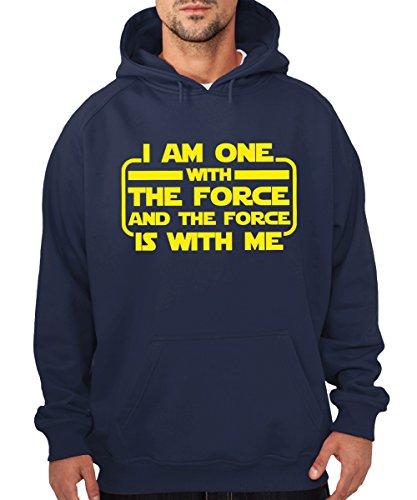 clothinx - I am one with The Force - Boys Kapuzenpullover Navy, Größe 3XL