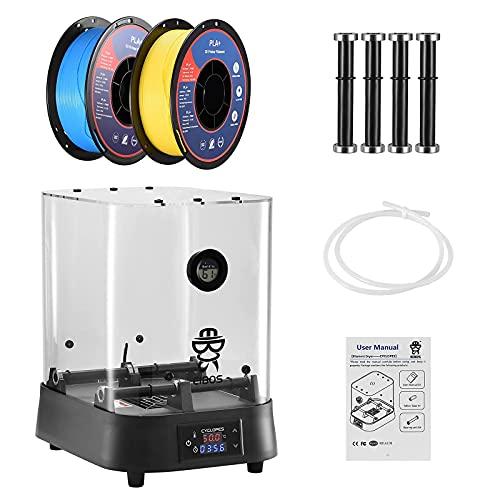 Scatola Essiccatore Filamento Stampante 3D,Kacsoo Asciugatrice del filamento 3D Con riscaldatore PTC da 100 W,Mantiene Il Filamento Asciutto Durante Stampa 3D,Compatibile con 1.75mm,2.85mm,3.00mm