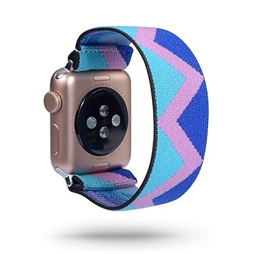 PZZZHF Scrunchie - Correa para reloj de pulsera Apple (40 mm, 44 mm, 42 mm, 38 mm, correa en la muñeca para IWatch Series 5, 4, 3, 2 y 1), color de la correa: 141, ancho de la correa: 42 mm, 44 mm)