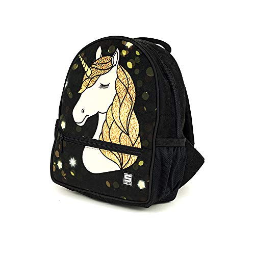 Shellbag Starry Glow Unicorn Collection eenhoorn rugzak/zwarte eenhoorn rugzak/eenhoorn gouden-zwarte voorschoolse bakcpack/premium kwaliteit gemaakt in Europa
