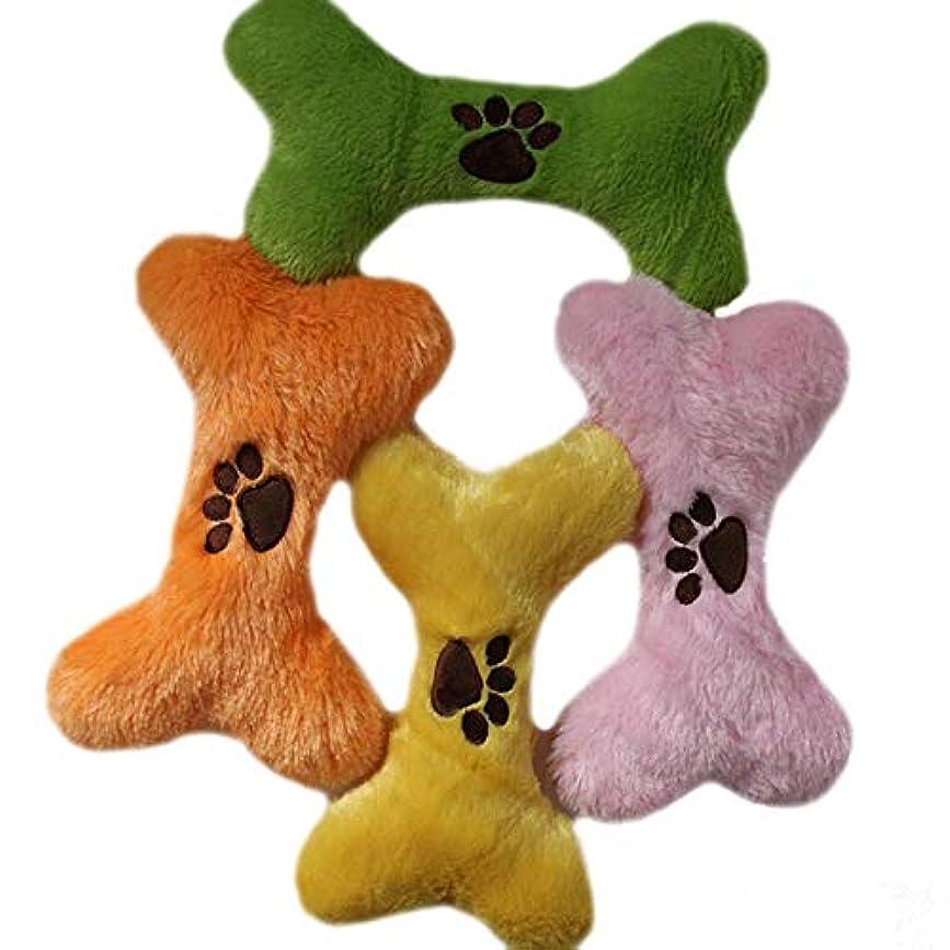 チューインガム調査ムスSHUHAO ポウプリント色ランダムで1PCS骨の形状ペットの犬のおもちゃ