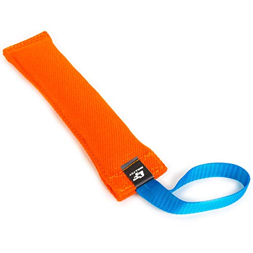K9 Dog Bite Tug Toy - Made of Durable & Tear-Resistant French Linen - Perfect for Tug of War, Fetch & Puppy Training - Ideal for Medium to Large Dogs - Tough Pull Toy with Strong Handle & Stitching