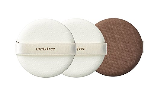 Innisfree Make Up Air Magic Fitting Cushion Puff 3Pcs Improved Matte Finish Higher Coverage Longer Lasting Adherence