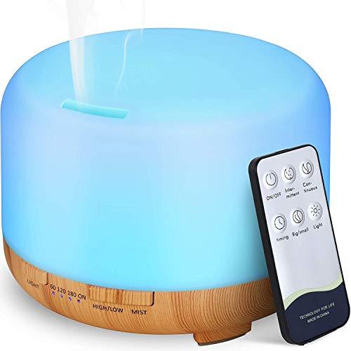 Difusores de aceite esencial 450 ml, humidificador de aromaterapia ultrasónico de aroma...
