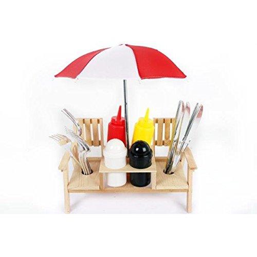 Außenbereich Schirm Picknick Gartenbank Gewürze Halter Besteckset Salz Und Pfeffer Schüttler