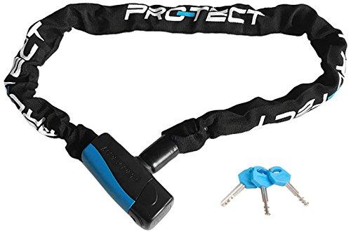 Protect Pro-TECT Art-3 Opal Chain Cerradura, Unisex, Negro, 120 cm