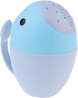 FITYLE Baby Infant Child Tubs Wash Hair Eye Water Scoop Bath Nozzle Shampoo Rinse Cup - Blue, 16x16cm
