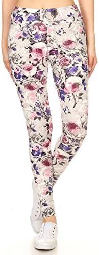 Rose print leggings _image4