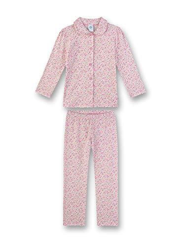 Sanetta Mädchen Pyjama lang Zweiteiliger Schlafanzug, Rosa (rosa 3813), (Herstellergröße:152)
