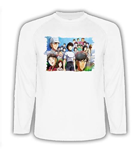Camiseta Manga Larga Futbol Oliver Y Benji Serie Tshirt