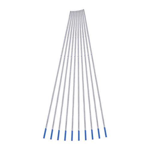 10pcs 1.0/1.6/2.4mm WL20 Electrodos de soldadura de tungsteno Electrodo lantanado Punta azul(1.0 * 150mm)