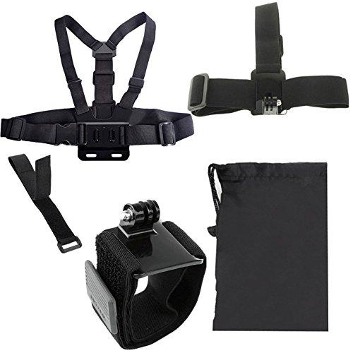 Tanhefa YKD -117 5 in 1 Brustgurt + Kopfband + Handschlaufe + Remote-Bügel + Bag Set for GoPro Hero / HERO6 Session / 5/5/4/3 + / 3/2/1 / SJ4000