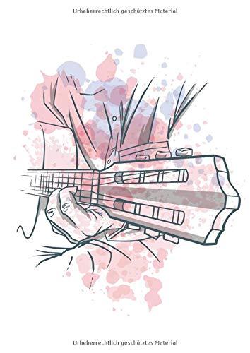 Gitarrentabulatur: 120 Blanko Gitarren Tabs Vorlagen | A4 | elegantes Softcover | mit Akustikgitarren Design | mit Akkorddiagrammen und 6-Linien Tabulatur | übersichtlich und einfach