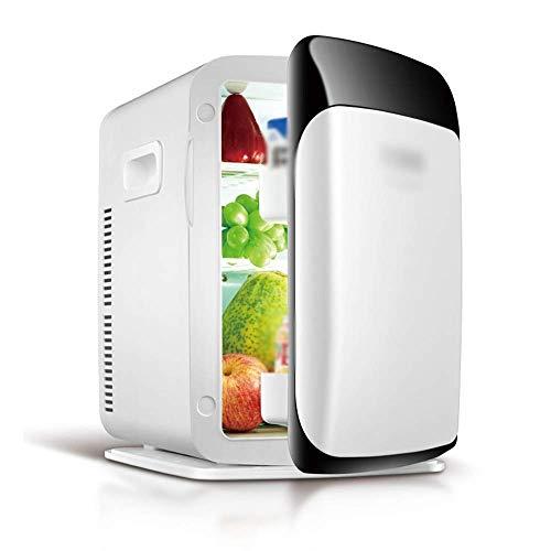 Mini refrigerador y calentador eléctrico para oficina, dormitorio universitario, dormitorio y apartamento, refrigerador de compresor pequeño Refrigerador de automóvil de 15 l con 220 VCA, manija de bl
