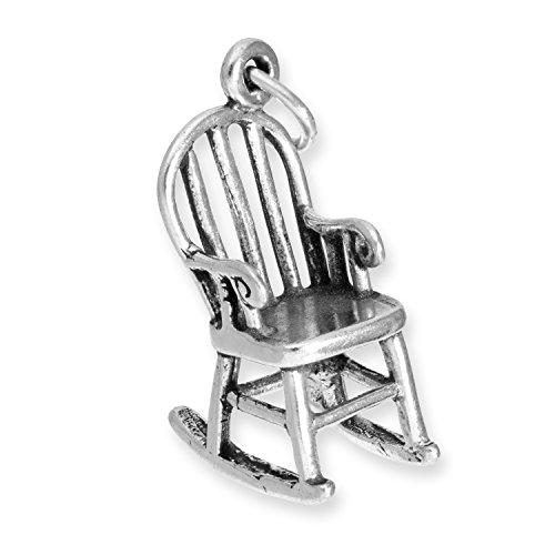TheCharmWorks Sterlingsilber Schaukelstuhl Charmanhänger   Sterling Silver Rocking Chair Charm