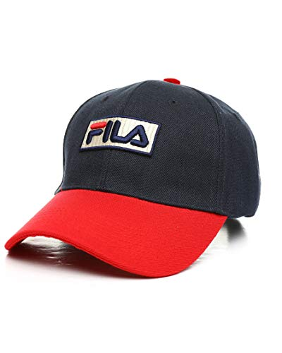 Fila Heritage Strapback Color Blocked Cap Navy/Chinese Red OS