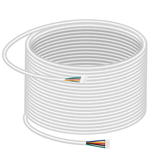 Cable para Timbre, 35m 0.5mm 5 Hilos Cable de Cobre Flexible para Sistema de Teléfono Video de la Puerta